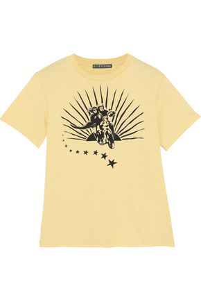 ALEXACHUNG Printed cotton-jersey T-shirt
