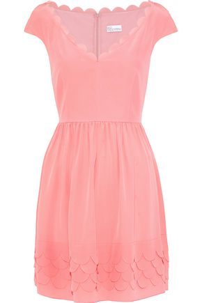 REDValentino Scalloped silk mini dress