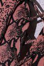 ALEXACHUNG Lace-up snake-print jersey top