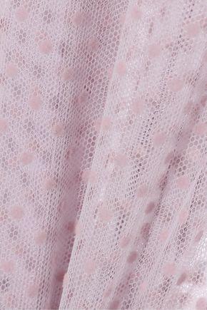 ALEXACHUNG Flocked tulle blouse