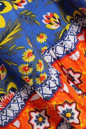 JOIE Chloris printed cotton-poplin mini dress