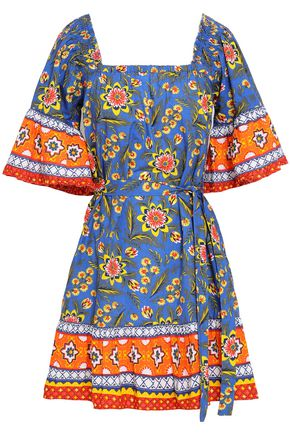 JOIE Chloris printed cotton-poplin mini dress