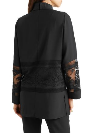 CHLOÉ Lace-paneled cady tunic