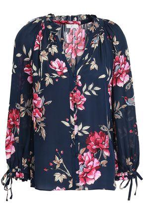 JOIE Corsen floral-print silk blouse