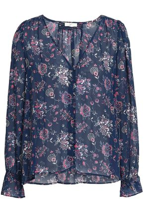 JOIE Floral-print silk shirt