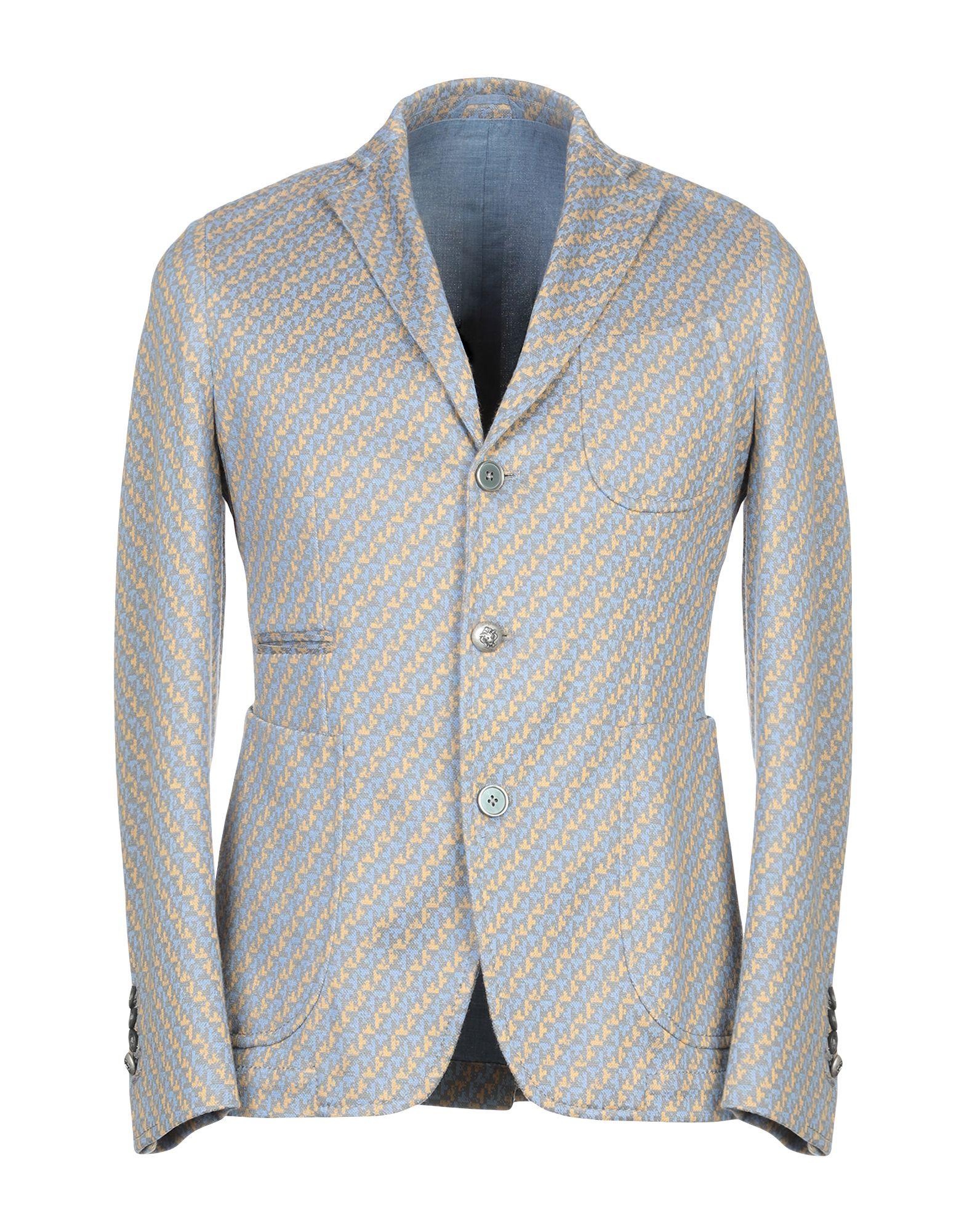 《期間限定セール開催中!》JOHN SHEEP メンズ テーラードジャケット アジュールブルー 46 コットン 87% / ナイロン 13%