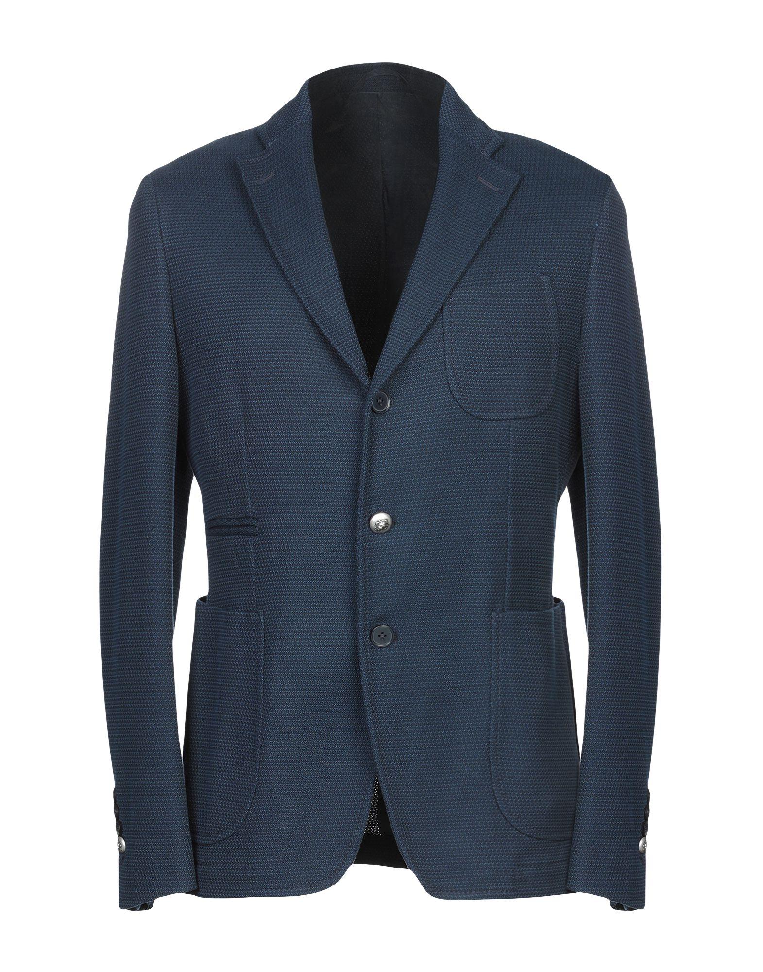 《送料無料》JOHN SHEEP メンズ テーラードジャケット ブルー 50 コットン 100%