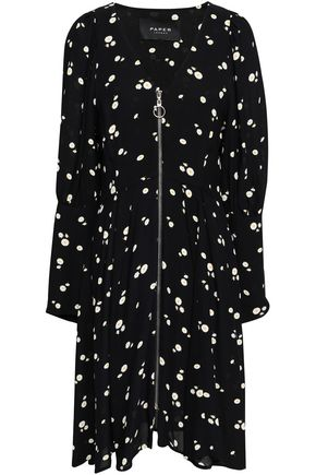 PAPER London Floral-print crepe dress
