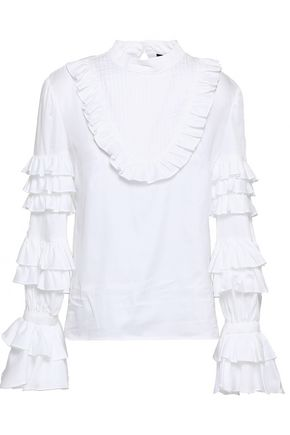 PETERSYN Lulu ruffled cotton-poplin blouse