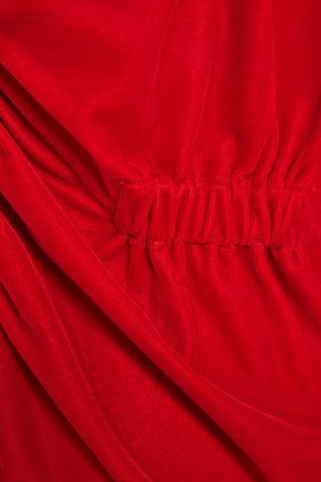PETERSYN One-shoulder velvet top