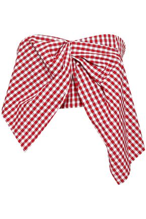 PETERSYN Joi cropped gingham cotton top