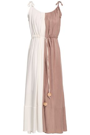 PAPER London Two-tone twill midi dress