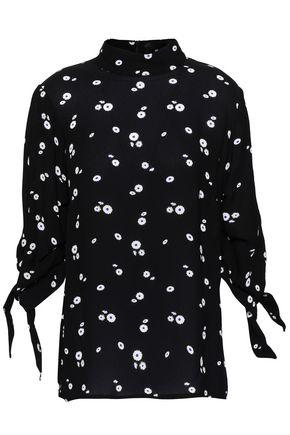 PAPER London Floral-print crepe blouse