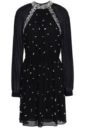 MICHAEL MICHAEL KORS Embellished chiffon mini dress