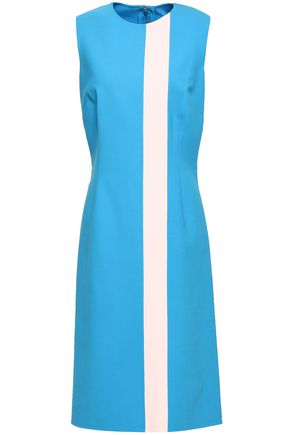 CAROLINA HERRERA Two-tone wool-blend dress