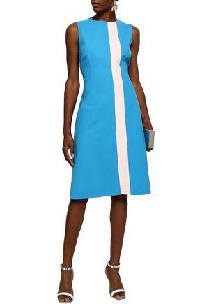 CAROLINA HERRERA Two-tone wool-blend dress