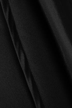 CAROLINA HERRERA One-shoulder bow-embellished silk-faille dress