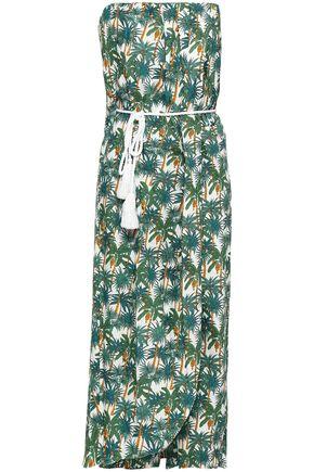 PETERSYN Marley strapless cropped linen-blend jumpsuit