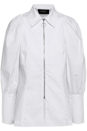 PAPER London Cotton-blend poplin shirt