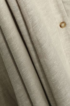PETERSYN Violet printed cotton-poplin midi dress