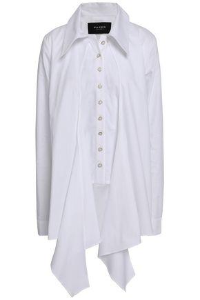 PAPER London Cape-effect cotton-poplin shirt