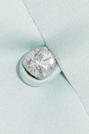 ALEXACHUNG Crystal-embellished satin-crepe dress