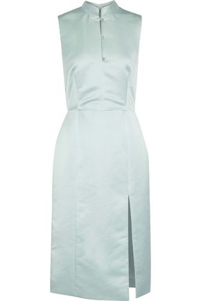 ALEXACHUNG Crystal-embellished satin-crepe dress