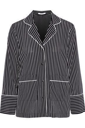 DEREK LAM 10 CROSBY Striped stretch-silk shirt