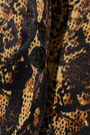 ALEXACHUNG Snake-print satin shirt