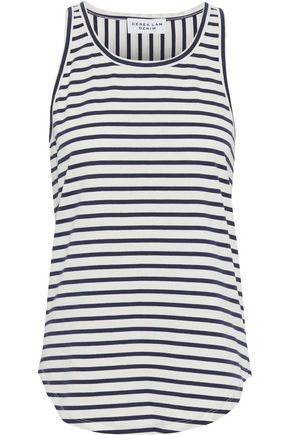 DEREK LAM Striped cotton-jersey tank