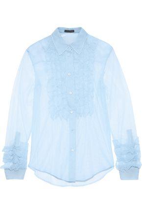 ALEXACHUNG Nina ruffled tulle blouse