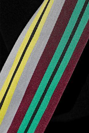 DIANE VON FURSTENBERG Striped satin-trimmed crepe jumpsuit