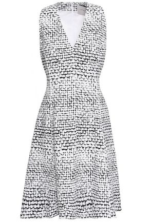 CAROLINA HERRERA Printed stretch-cotton canvas dress
