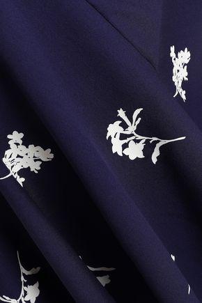CAROLINA HERRERA Printed stretch-silk dress