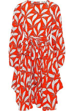 DIANE VON FURSTENBERG Belted floral-print silk crepe de chine dress