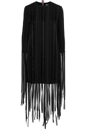 THOM BROWNE Fringed cotton mini dress