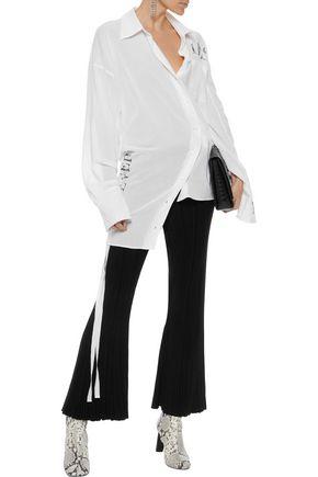 ANN DEMEULEMEESTER Assymmetric printed cotton tunic