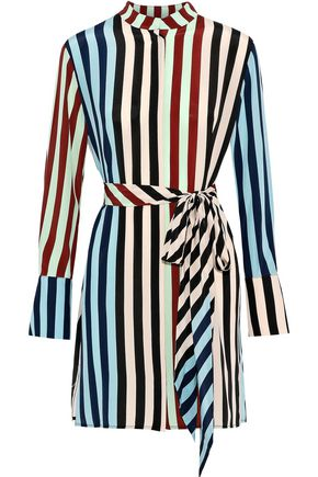 DIANE VON FURSTENBERG Belted printed silk mini dress