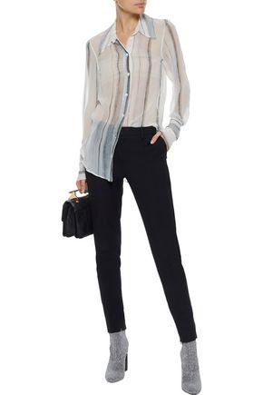 ANN DEMEULEMEESTER Printed silk-chiffon shirt