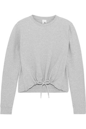 IRIS & INK Mélange French cotton-blend terry sweatshirt