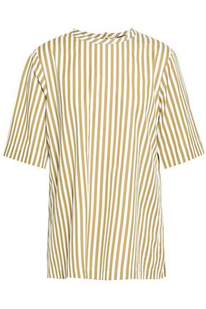 JOSEPH Striped cotton-poplin top