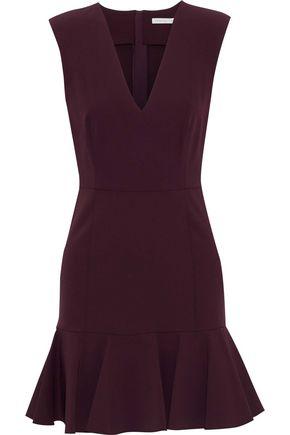 VERONICA BEARD Scarlet fluted crepe mini dress
