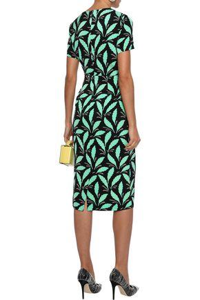 DIANE VON FURSTENBERG Leopard-print stretch-jersey dress