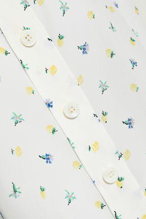 JOSEPH Floral-print silk crepe de chine shirt