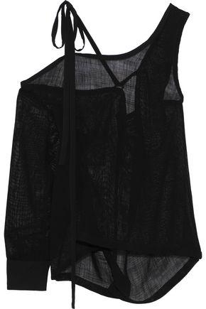 ANN DEMEULEMEESTER Cold-shoulder open-knit top