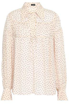 JOSEPH Printed silk crepe de chine blouse