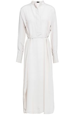 JOSEPH Striped silk-crepe midi dress