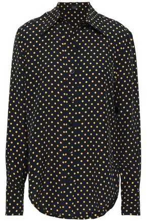 JOSEPH Polka-dot silk shirt