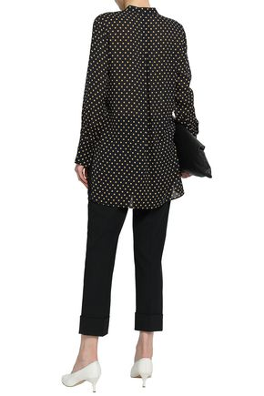 JOSEPH Polka-dot silk-georgette blouse
