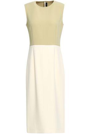 JOSEPH Sabine two-tone cady midi dress